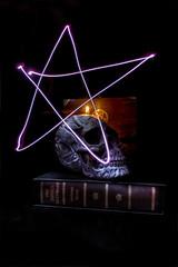 Pentogram (nigdawphotography) Tags: lightpainting skull book head pentagram satanic