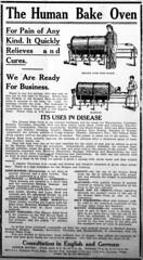 The Human Bake Oven (WA State Library) Tags: news health medicine quackmedicine