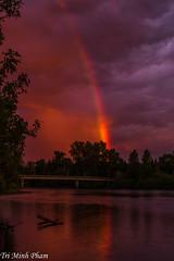 rainbow at sunset (Tri Minh) Tags: sunset oregon rainbow willametteriver