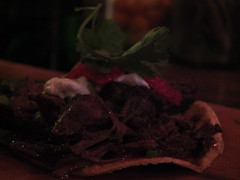 Double Taco (failing_angel) Tags: food usa newyork manhattan beef taco blackcreek ussa orchardstreet 300515 sirloinbao