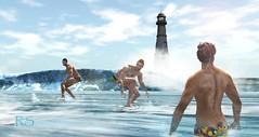 surfing (Richard de Grataine Suoh) Tags: summer beach surf playa sl secondlife verano richarddegrataine ophielerel richarddegratainesuoh nathanaelsommerfeld meridiancommunity