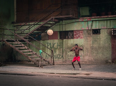 Streets of Havana - Cuba (IV2K) Tags: havana habana lahabana cuba cuban mina caribbean street centro centrohavana centrohabana havanastreet streethavana sony rx1 sonyrx1 soccer football child kid