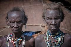 Two old Women from Folk the Dassanech (ddimblickwinkel) Tags: africa old woman art nikon outdoor alt portrt afrika nik ethiopia frau tamron personen thiopien d300 d300s