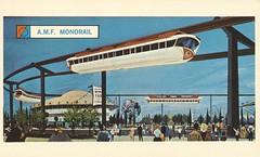 AMF Monorail - New York World's Fair 1964-65 (The Cardboard America Archives) Tags: newyork vintage postcard monorail worldsfair 1964 1965