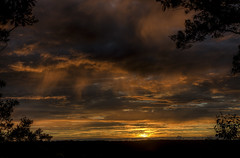 Rain Clouds in front of the Sunset (Klaus Ficker --Landscape and Nature Photographer--) Tags: sunset storm rain clouds kentucky serene klausficker