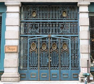 Gated doorway, East 11th Street, Greenwich Village, New York