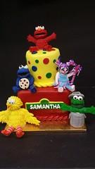 Sesame Street Cake (dragosisters) Tags: baby cake bigbird abby elmo sesamestreet cookiemonster grouch
