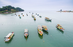 fishing boat park (sydeen) Tags: park travel blue sea summer sky tree green nature water river landscape island boat fishing colorful view traditional transport aerial fresh clean clear malaysia terengganu dungun
