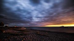 tonight's sunset, Crescent Beach, BC (gks18) Tags: longexposure beach colors canon britishcolumbia crescentbeach