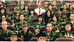 Birthday Boy (Robert Borden) Tags: china birthday green faces military crowd beijing highschool birthdayboy artists inside artschool whereswaldo cafa centralacademyoffineart