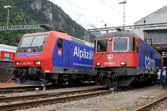 Re 482 026 & Re 620 033 (ice91prinzeugen) Tags: sbb cargo depot re ffs lokomotive bombardier 620 482 traxx 2016 cff gottardo elok erstfeld