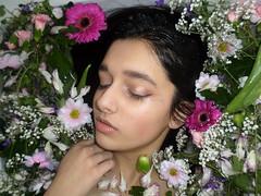 ophelia shoot (caitlinjlewis) Tags: flowers portrait people plant flower art water floral girl person makeup millais ophelia preraphaelite