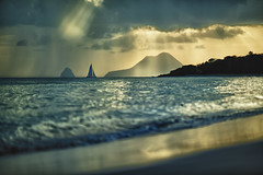 Rain and sun (Nicobert.Photos) Tags: antilles landscape sunset nature water frenchwestindies sonyalphaa7rii canonef135mmf2lusm dof sea rocherdudiamant hdr frenchantilles martinique caribbean naturallight panorama sun ilce7rm2 carabes beach boat grandeansedessalines france plage bokeh