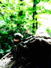 The sniper (Brick Operator) Tags: military army sniper rifle lego brickarms nature woods stealth