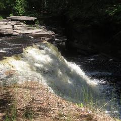 Canyon Falls (yooperann) Tags: park river waterfall michigan canyon falls upper trail roadside peninsula sturgeon lanse baraga