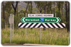 Peak Downs Highway, Between Moranbah and Mackay (Craig Jewell Photography) Tags: australia bowenbasin highway mackay moranbah peakdowns peakdownshighway queensland sign iso800 f32 sec canon canoneos1dmarkiv ef135mmf2lusm copyright2016craigjewell 215522s1482053e ev aperturepriority 20160312014107x0k0216cr2