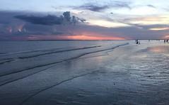 Sunset on the Gulf (Dale Brueggemann) Tags: diagonals clouds waves ocean seaside beach coast sunset