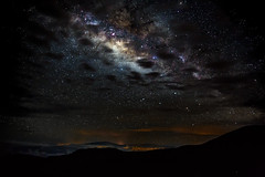 Milky Way over Big Island (pbuschmann) Tags: volcano maui galaxy haleakala crater bigisland universe mountkilauea milkyway activevolcano puuoo