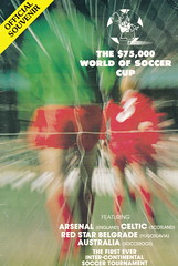The $75000 World Of Soccer Cup - 1977 - Cover Page (The Sky Strikers) Tags: world red cup star official soccer australia souvenir tournament celtic belgrade arsenal intercontinental programme the 75000 of