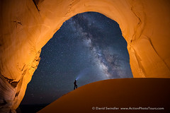 The Great Chamber (David Swindler (ActionPhotoTours.com)) Tags: lightpainting night stars star utah nightscape kanab milkyway greatchamber