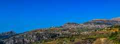 Ehden Mountain (Paul Saad (( ON/OFF ))) Tags: ehden lebanon hdr nikon sky pano panoramic mountain village town zgharta outdoor landscape hill