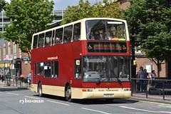 East Yorkshire 683, YX53AOJ. (EYBusman) Tags: east yorkshire motor services eyms hull bus coach prospect street plaxton president volvo b7tl new livery yx53aoj eybusman