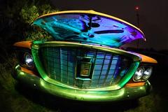 Simply Valiant (Aztravelgrl (Forgotten Places Photography)) Tags: longexposure nightphotography usa lightpainting abandoned car plymouth idaho valiant junkyard