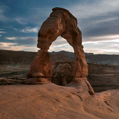 Delicate Arch (Curtis Gregory Perry) Tags: park sunset red southwest utah nikon sandstone arch desert arches formation national geology delicate d800e