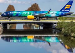 "Icelandair's Hekla Aurora at Schiphol • <a style=""font-size:0.8em;"" href=""http://www.flickr.com/photos/125767964@N08/16833009173/"" target=""_blank"">View on Flickr</a>"