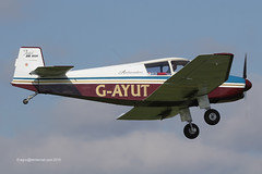 G-AYUT - 1964 SAN built Jodel DR1050 Ambassadeur, on approach to Runway 10 at Breighton (egcc) Tags: san bell flyin jodel continentalmotors ambassadeur 479 breighton gayut dr1050 o200 egbr fbljz