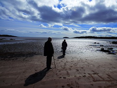On the beach (Tobymeg) Tags: sky people beach clouds coast scotland sand solway dumfries rockcliffe