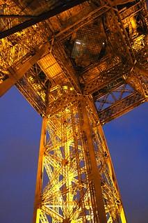 Eiffel Tower by night. Paris.