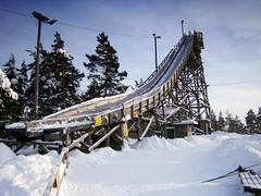 An old ski jumping hill (Lnsi-Herttoniemi, Helsinki, 20120129) (RainoL) Tags: winter finland geotagged helsinki january u helsingfors fin 2012 uusimaa nyland 201201 20120129 geo:lat=6021106800 geo:lon=2503365100