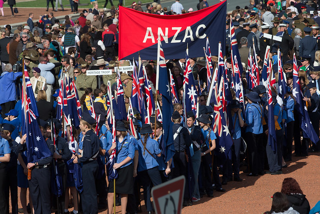 ANZAC DAY, Australian War Memorial, National Service. 25/04/15