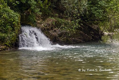 Pertosa (SA), 2015, Il fiume Tanagro in prossimità delle grotte.