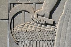 Bas Relief, St. Paul City Hall (stormdog42) Tags: sculpture minnesota architecture hand panel stpaul artdeco sickle agriculture allegory basrelief leelawrie saintpaulcityhall holabirdroot ramseycountycourthouse thomasellerbe