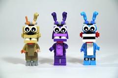 LEGO FNAF: Bonnie, Toy Bonnie, & Springtrap (fallentomato) Tags: lego five bonnie nights freddys fnaf