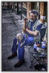 Biker Dog (jsleighton) Tags: dog club motorcycle tatoos beacon members barks