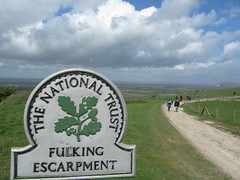 UK - West Sussex - Near Fulking - Walking along Fulking escarpment on South Downs Way (JulesFoto) Tags: uk england westsussex ramblers southdownsway fulkingescarpment southdownsnationalpark northeastlondonramblers
