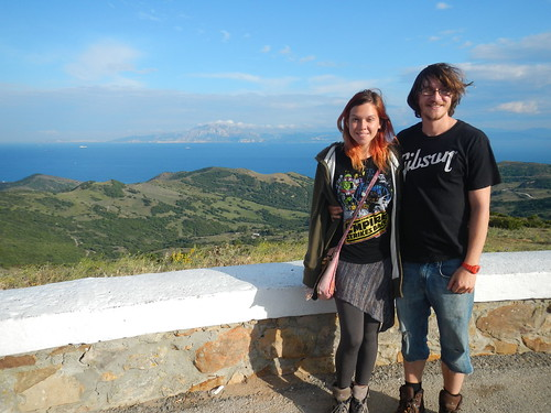 Rachel and Shawn at the Straight of Gibraltlar