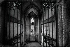 Window to the World (enigmaarts) Tags: cemetery blackwhite neworleans tomb crypt hdr metairielakelawncemetery enigmaartsphotography enigmaartscom beckyplexco