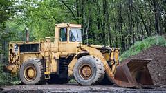 Old CAT Loader (Western Maryland Photography) Tags: rain cat pennsylvania caterpillar loader ef70300mmf456isusm canoneos6d paloaltoroad