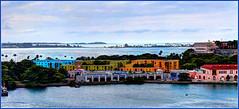 old San Juan harbor... (Baja Juan) Tags: art colors puerto san view juan artistic vibrant balcony royal cruising rico format caribbean baja traveling hdr
