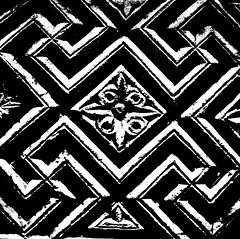 Egypt 6th century ornamental relief slab - black white (Azchael) Tags: decoration relief ornamental slab bodemuseum egyptianart kalkstein thing:placeoforigin=egypt thing:acquiredin=1908 thing:material=kalkstein ornamentalreliefslab