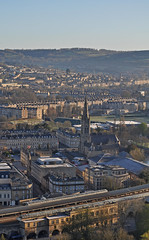 UK - Somerset - Bath - View from Alexandra Park (Harshil.Shah) Tags: world park city uk morning england heritage station architecture site bath cityscape britain centre united great terraces railway kingdom somerset historic unesco alexandra gb georgian