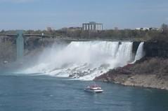 Hornblower passing the American Falls (cohodas208c) Tags: river niagarafalls tourists americanfalls rivercruise hornblower canadianside