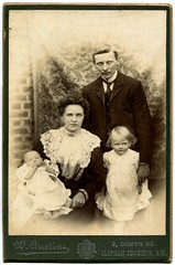 Walter and Florence Castell (1906) (The Wright Archive) Tags: uk family walter england baby london florence emily photographer child cabinet group archive junction henry card photograph wife sw wright ernest 1906 clapham edwardian ridgway castell nee waustin florencedorothycastell