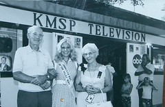 KMSP at the Minnesota State Fair, 1973 (STUDIOZ7) Tags: television minnesota tv statefair stpaul minneapolis 70s channel9 abc network twincities 1970s pageant seventies mn princesskay fox9 kmsp