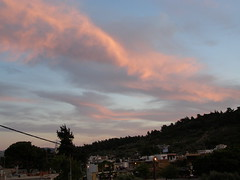 (Psinthos.Net) Tags: road houses sky mountain nature pinetree clouds forest square countryside spring village may fields after mountainside shrubs pinetrees greekflag nightfall pinkclouds cypresstree  purpleclouds  orangeclouds       psinthos                    psinthossquare  psinthosvillage