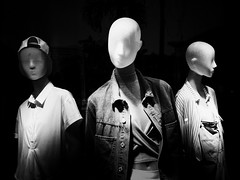 fashion delinquents (dr.milker) Tags: urban blackandwhite bw blancoynegro mannequin window fashion shop display noiretblanc taiwan taipei       delinquent xinyidistrict